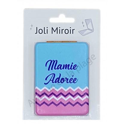 Miroir de poche message Mamie adorée