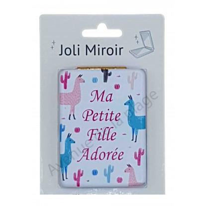 Miroir de poche message Ma Petite Fille adorée