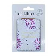 Miroir de poche message Merveilleuse Marraine