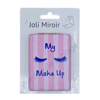 Miroir de poche message My Make Up
