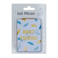 Miroir de poche message Best Friend