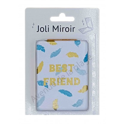 Miroir de poche message Best Friend