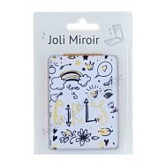 Miroir de poche message Love is Girls
