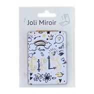 Miroir de poche message Love is Girls