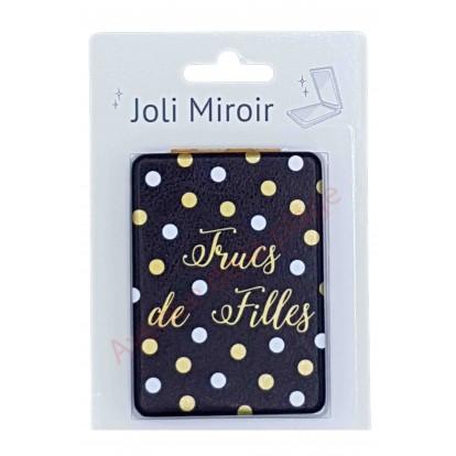 Miroir de poche message Trucs de Filles