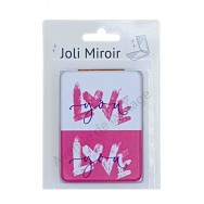Miroir de poche message Love You