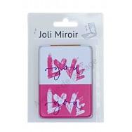 Miroir de poche message Love You