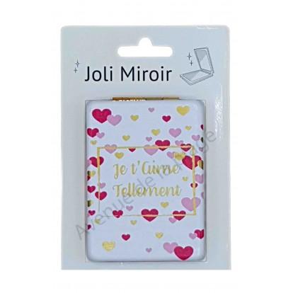 Miroir de poche message Je t'aime tellement
