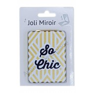 Miroir de poche message So Chic