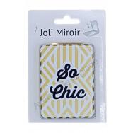 Miroir de poche message So Chic