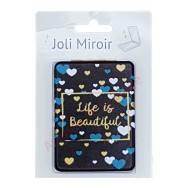 Miroir de poche message Life is Beautiful