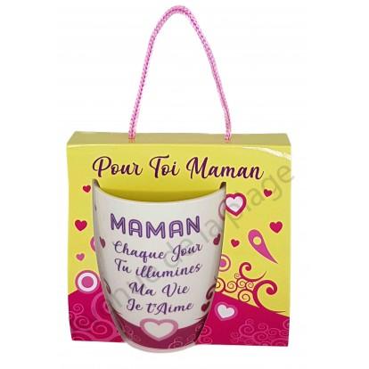 Mug message Maman tu illumines ma Vie