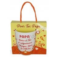 Mug message Papa Grâce à toi je m'épanouis
