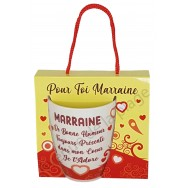 Mug message Marraine je t'adore