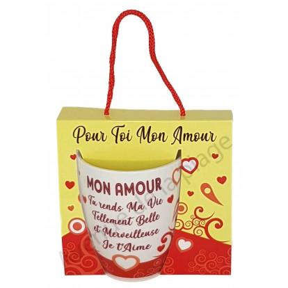 Mug message Mon Amour tu rends ma Vie Belle