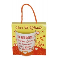 Mug message Ta retraite, Loisirs Vacances Repos