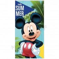 Serviette de plage Mickey palmiers