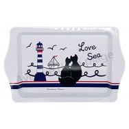 Plateau vide poche chats noirs Love Sea