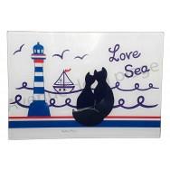 Planche à découper chats noirs Love Sea