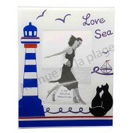 Cadre photo Chats noirs Love Sea