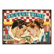 Plaque carton vintage Coffee Time