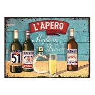 Plaque carton vintage Pastis l'Apéro Made in France