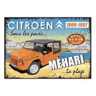 Plaque carton vintage Citroën Méhari