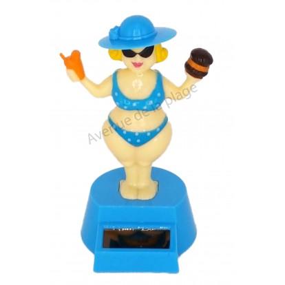 Bikini Lady solaire dansante bleu.