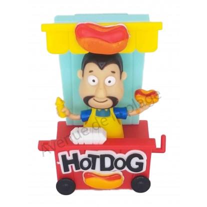 Figurine solaire vendeur de Hot Dog