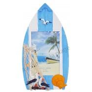 Cadre photo barque mouette et coquillage