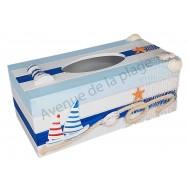 Boîte à mouchoirs bord de mer