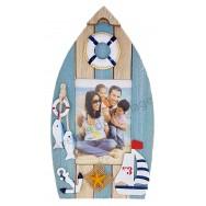 Cadre photo barque bois voilier