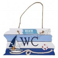 Plaque de porte WC voilier Beach