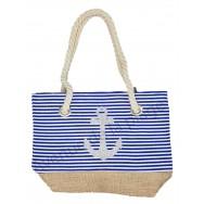 Mini sac de plage pour enfant marinière et ancre
