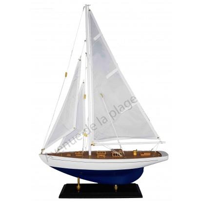 Maquette de voilier Régate bleu 40 cm