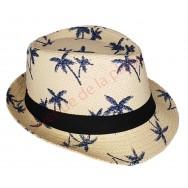 Chapeau adulte Borsalino palmiers
