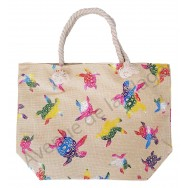 Sac de plage tortue de mer multicolore brillante