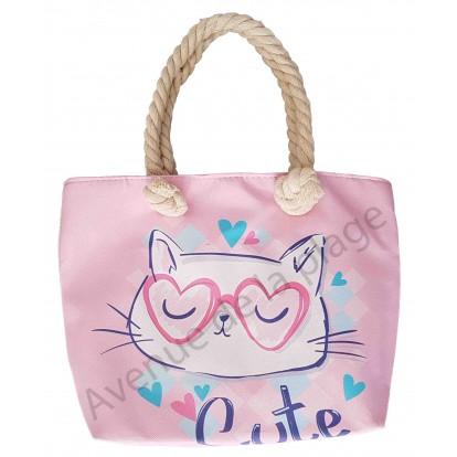 Mini sac de plage pour enfant Chat trop mignon