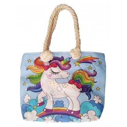 Mini sac de plage pour enfant Licorne