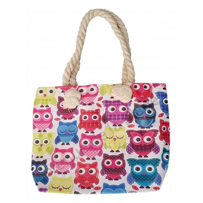 Mini sac de plage pour enfant Chouettes
