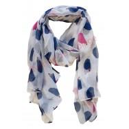 Foulard hérissons bleus et roses