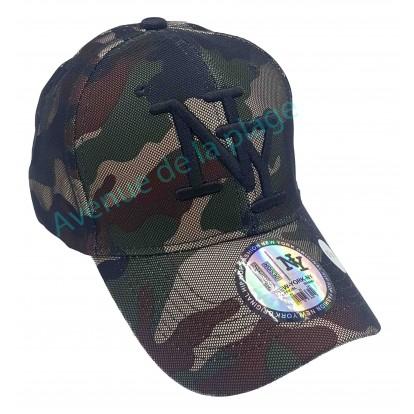 Casquette NY militaire et filet camouflage