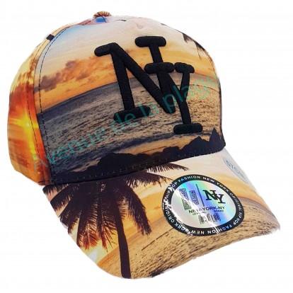 Casquette NY coucher de soleil sur la mer