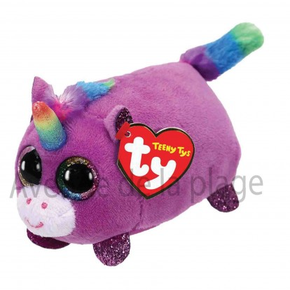 Peluche Teeny Ty Rosette la licorne violette