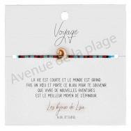 Bracelet souhait Voyage coquillage