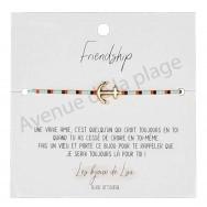 Bracelet souhait Friendship ancre de bateau