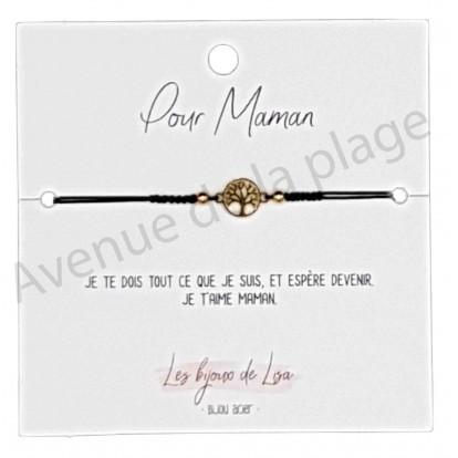 Bracelet message Pour Maman arbre de vie