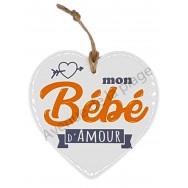 Coeur message Mon Bébé d'Amour