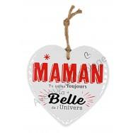 Coeur message La plus Belle Maman de l'Univers