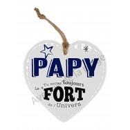 Coeur message Le plus fort Papy de l'Univers